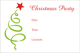 christmas party invitation template template