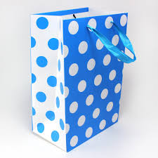 blue gift bags maple craft 15 polka dot gift bags with satin handle set of 2