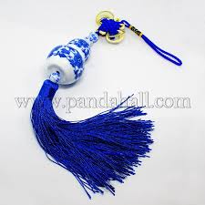 wholesale chinoiserie ornaments handmade blue and white porcelain