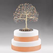 fall tree cake topper with swarovski crystal topaz siam fireopal
