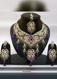 purple stone necklace set images Buy stone work gold and purple necklace set online jpg
