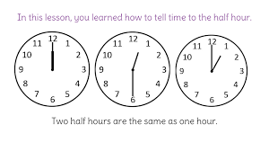telling time half hour 2 practice telling time to the half hour using analog clocks fp