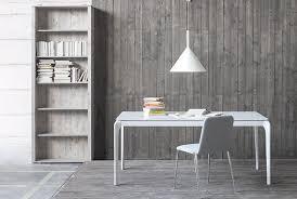 tavoli da design tavolo da pranzo mod alumen allungabile di sedit piano in vetro