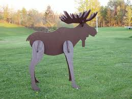 crafted lawn moose decoration by windy woods custom design