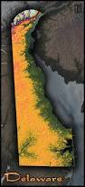 Terrain Map Delaware Topographic Map Physical Terrain In Bright Colors