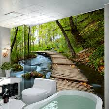 wallpaper house picture more detailed picture about high quality high quality modern desgin natural scenery photo 3d self adhesive removable wall mural wallpaper papel