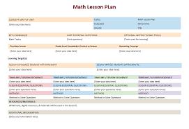 math lesson plan template u2013 microsoft word templates