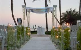 Wedding Arches Miami Beach Modern White Beach Chuppah Destination Indoor Ceremony