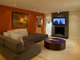 Curtain Color For Orange Walls Inspiration Living Room Design Living Room Brown Color Schemes Paint