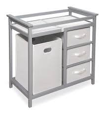 Basket Changing Table Badger Basket Modern Changing Table With 3 White Baskets And