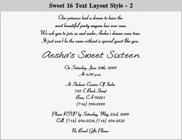 sweet 16 birthday invitation wording gallery invitation design ideas