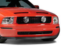 2007 mustang grill speedform mustang gt style pony delete grille w fog lights 94429