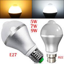 pir led light bulb smart auto on off 5730 smd e27 b22 pir infrared motion sensor led