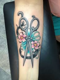 hair stylists shears tattoo i would like it better without the