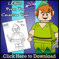 free lego peter pan printable coloring page skgaleana