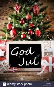 tree with god jul means merry stock photo 111757017 alamy