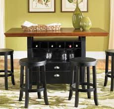 counter height table with storage chatham county rectangular counter height wine storage table by