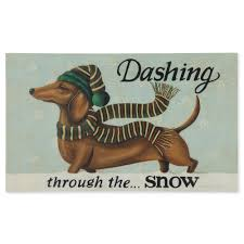 dashing dachshund doormat sturbridge yankee workshop