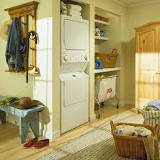 Laundry Room Cart - rolling laundry cart in laundry room eclectic with built in washer