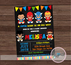 marvel baby shower american baby shower invitation superheroes