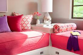 shared girls room daybeds in l formation contemporary u0027s room