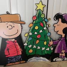 Charlie Brown And Christmas Tree - find more charlie brown lucy and christmas tree cardboard stand