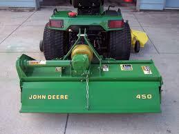 john deere 1999 455 lawn tractor with tiller