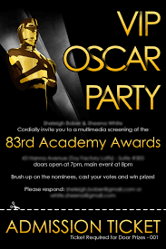 Vip Invitation Cards The Vip Oscar Party Blah Blah Bläg