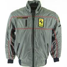 ferrari jacket vintage 80s retro style auto ferrari racing jacket mens m patches
