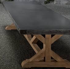 restoration hardware concrete table table designs