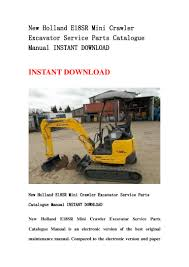 new holland e18 sr mini crawler excavator service parts catalogue man u2026