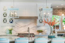 Grey And Turquoise Kitchen by Grey And White Marble Cooktop Backsplash With Wolf Range Cottage