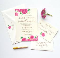 berry watercolor flower wedding invitations mospens studio