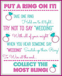 what do you put on a bridal shower registry put a ring on it bridal shower bachelorette party