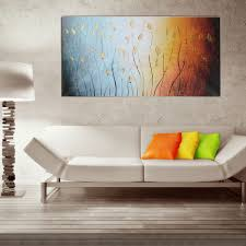 canvas painting for home decoration 120x60cm leaves abstract wall art painting canvas print picture