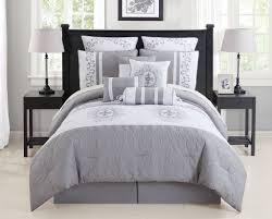 Grey California King Comforter Gray And White California King Comforters With Rustic Black Wood