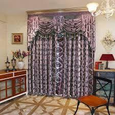2017 high end european work jacquard knit window blackout curtain