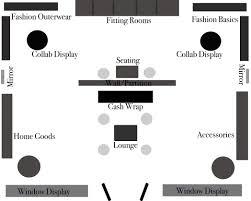 clothing boutique floor plan retail store bridal shop business pdf