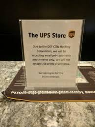 printable job application for ups defcon s hotel business center won t print from links or usbs