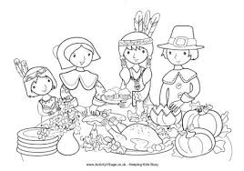 thanksgiving dinner coloring pages getcoloringpages