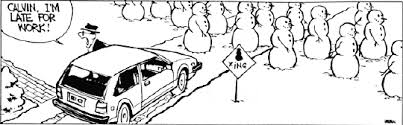 hiving out calvin and hobbes snowmen