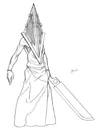 movie pyramid head sketch by jaybob on deviantart