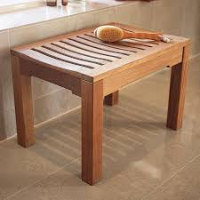 Best Flooring For Bathroom by Bathroom Folding Teak Shower Bench On Black Tile Wall Matched