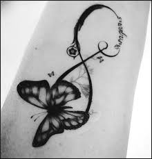 butterfly infinity temporary courageous