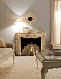 unique carving fireplace mantel idea plus round decorative wall
