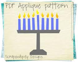 kids menorah menorah applique template hanukkah applique pattern