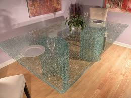 Glass For Table Tops Clear Crackle Glass Table Tops