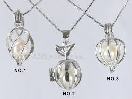 pearl pendant necklace silver images 925 sterling silver 6 7mm round pearl cage pendant 925 sterling jpg