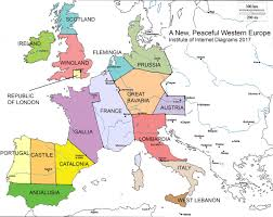 Map Of Western Europe by A New Peaceful Western Europe