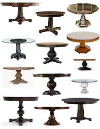 Kinds Of Tables by Pedestals For Tables Ideas Homesfeed